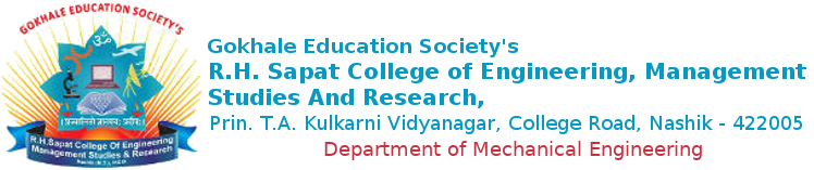 R. H. Sapat College Of Engineering, Management Studies And Research | Mechanical Engg.
